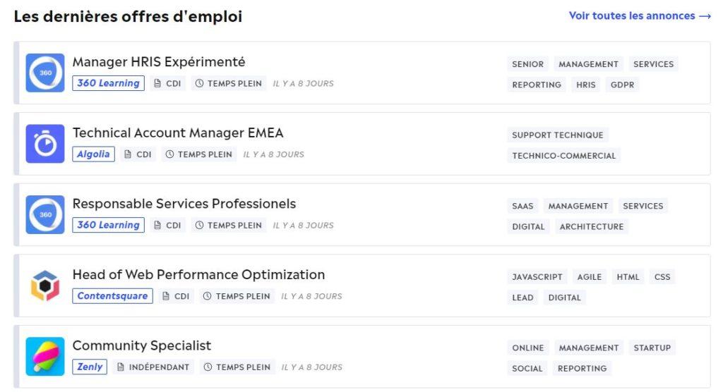 Homajobが扱うリモートワークの求人リスト例