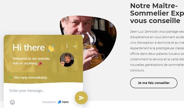 D'or et de vins : 専属ソムリエとチャット
