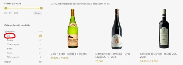 D'or et de vins : 流行りのBIOワイン
