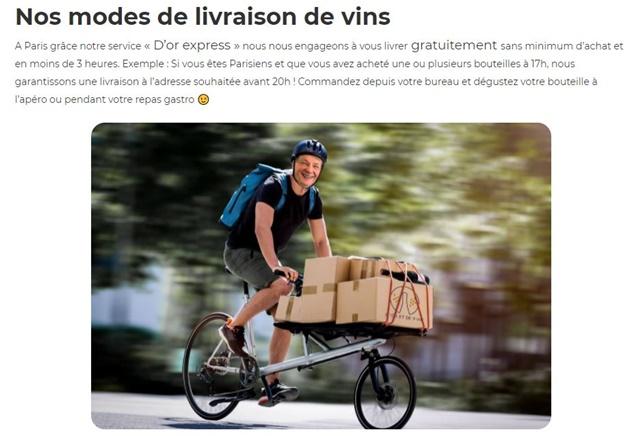 D'or et de vins : ワインの郵送